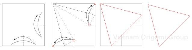 Cách cắt giấy tam giác đều