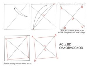 Cách cắt giấy hình vuông